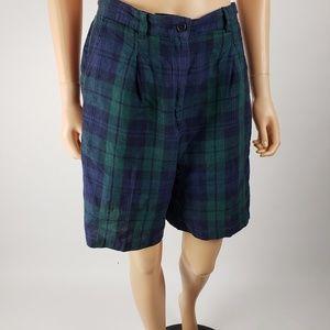 Vintage Ralph Lauren Tartan 100% Linen Shorts